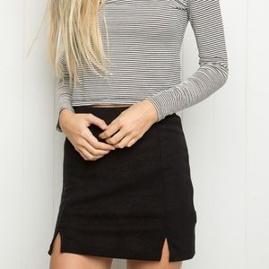 Brand new Brandy Melville Black Slit Skirt